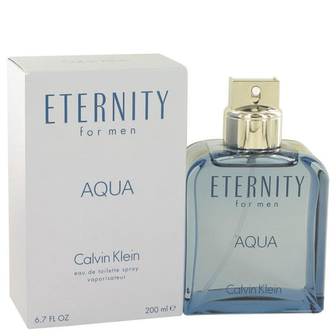 Eternity Aqua by Calvin Klein Eau De Toilette Spray 6.7 oz