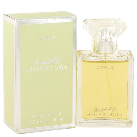 Marshall Fields Signature Citrus by Marshall Fields Eau De Toilette Spray (Scratched box) 3.4 oz