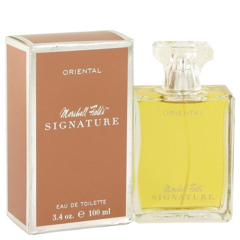Marshall Fields Signature Oriental by Marshall Fields Eau De Toilette Spray (Scratched box) 3.4 oz