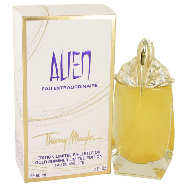 Alien Eau Extraordinaire by Thierry Mugler Eau De Toilette Spray (Gold Shimmer Edition) 2 oz