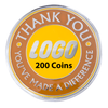 Custom Coins, 200 Pieces - YOUR Logo! - AttaCoin