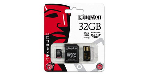 Kingston 32GB Multi Kit/Mobility Kit microSDHC/SD Adapter/USB Adapter