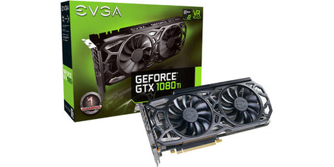 EVGA GeForce GTX 1080 Ti SC Black Edition Gaming 1556/1670 MHz 11GB GDDR5X Icx Cooler LED Video Card