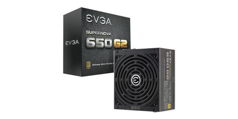 EVGA SUPERNOVA 650 G2 80 PLUS GOLD CERTIFIED 650W FULLY MODULAR POWER SUPPLY W/ ECO MODE 7YR WTY