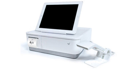 Star Micronics MPOP10-B1 Wht Scanner 2 Inch Printer Cash Drawer Tablet Stand INT PS POS