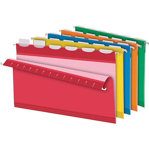 Pendaflex Ready-Tab Hanging Folder with Lift-Tab Technology, Legal Size, Assorted Colours