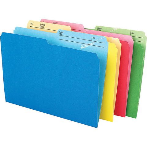 "Pendaflex CutLess® File Folders, Letter Size, 8-1/2"" x 11"", Assorted Colours, 24/Pack"