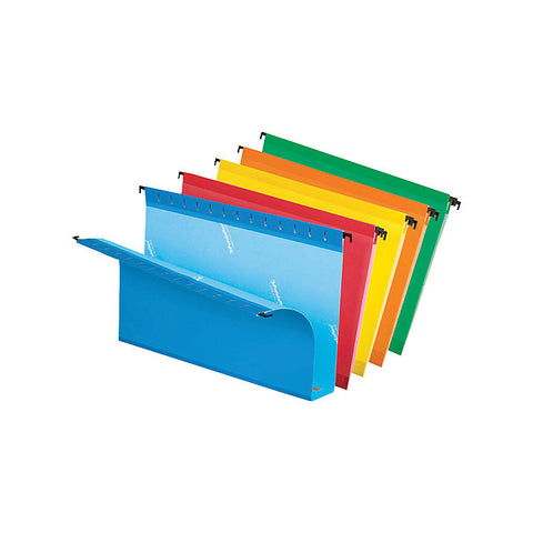 "Pendaflex SureHook Extra-Capacity Hanging Folder, 2"" Expansion, Legal Size, 8-1/2"" x 14"", Assorted Colours"