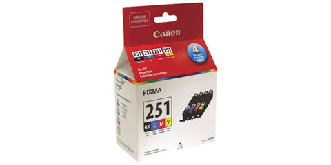 Canon CLI-251 Black and Colour Ink Value Pack Bk / Cmy