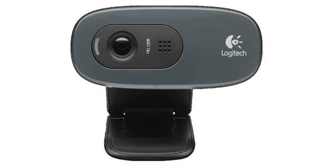 Logitech C270 HD Webcam With 720p / Built-in Mic With Noise Reduction / Auto Light Correction