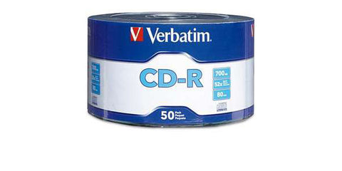 Verbatim CD-R 52X 80MIN 700MB 50PK Wrap
