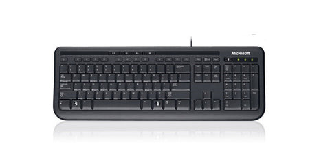 Microsoft Wired Keyboard 600 English Black USB Spill Resistant Design