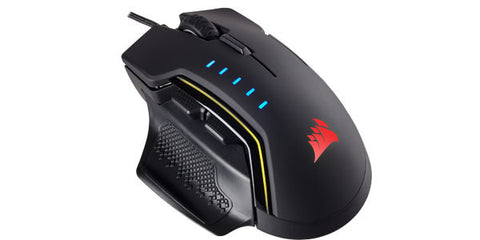 Corsair Gaming Glaive RGB Gaming Mouse - Backlit RGB LED - 16000 DPI - Optical - Black - Pre-Order