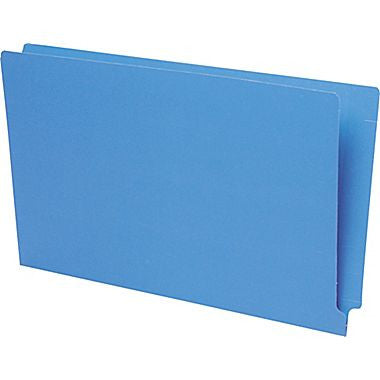 Pendaflex Reinforced Coloured End-Tab File Folders, Legal Size, Blue
