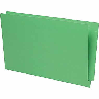 Pendaflex Reinforced Coloured End-Tab File Folders, Legal Size, Green