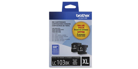 Brother 2PK Black Ink Cartridge High Yield for MFC-J285DW MFC-J470DW
