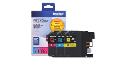 Brother LC103 3-PACK High Yield Colour Ink Cartridge