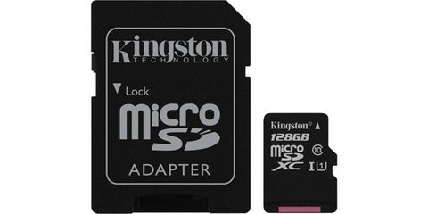 Kingston SDC10G2/128GBCR 128GB Microsdxc Class 10 UHS-I 45R Flash Card Canada Retail
