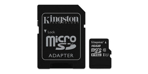 Kingston SDC10G2/16GBCR 16GB microSDHC Class 10 UHS-I 45R Flash Card Canada Retail