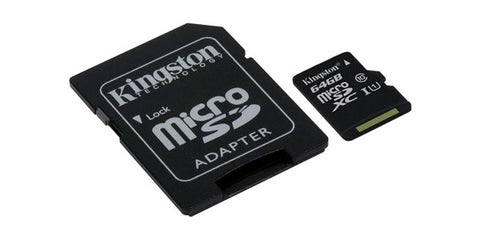 Kingston SDC10G2/64GBCR 64GB Microsdxc Class 10 UHS-I 45R Flash Card Canada Retail