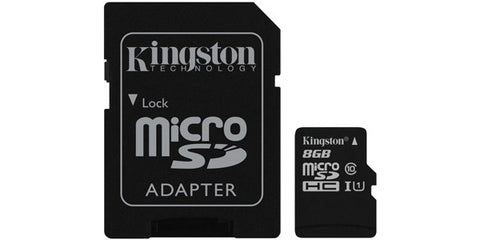 Kingston SDC10G2/8GBCR 8GB microSDHC Class 10 UHS-I 45R Flash Card Canada Retail