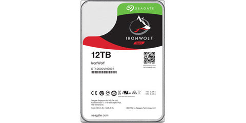 Seagate Ironwolf ST12000VN0007 12TB SATA 6.0GB/S 256MB Cache 3.5in Internal Hard Drive OEM