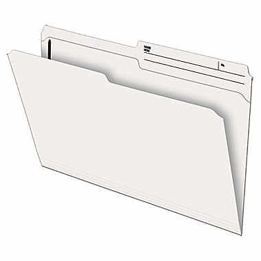 Pendaflex Recycled Slimtrim™ Double-Top File Folder with # 1 Fastener Position, Legal Size, Ivory