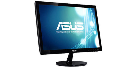 ASUS VS197D-P 18.5IN Widescreen LED LCD Monitor Black 1366X768 5ms D-Sub