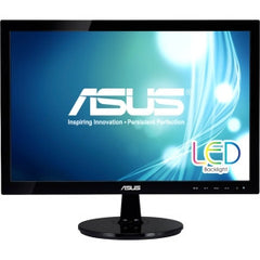 ASUS VS197T-P 18.5IN Widescreen LED Backlit LCD Monitor 1366X768 5MS 50M:1 DVI D-Sub w/ Speakers
