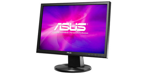 ASUS VW199T-P 19IN Widescreen LED Backlit LCD Monitor Black 1440X900 5ms 10M:1 DVI-D D-Sub VGA
