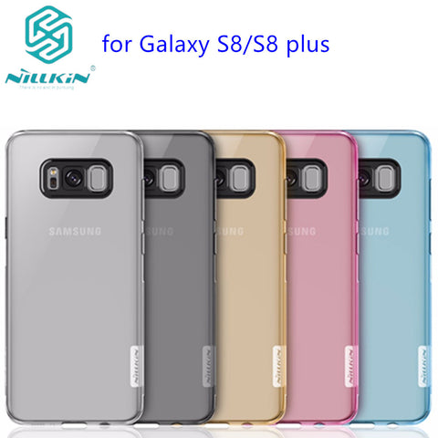 For Samsung Galaxy S8 & S8 Plus Cover Nillkin Nature Transparent Clear Soft silicon TPU Protector Case