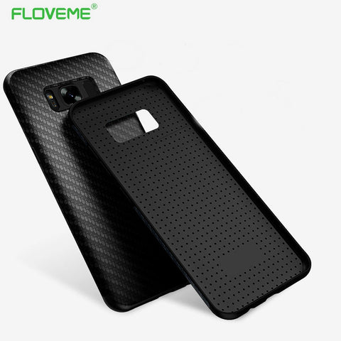 FLOVEME Synthetic Fiber Phone Case For Samsung Galaxy S8 Cases Environmental Carbon Fiber Anti-Knock Back Cover Case S8 Plus