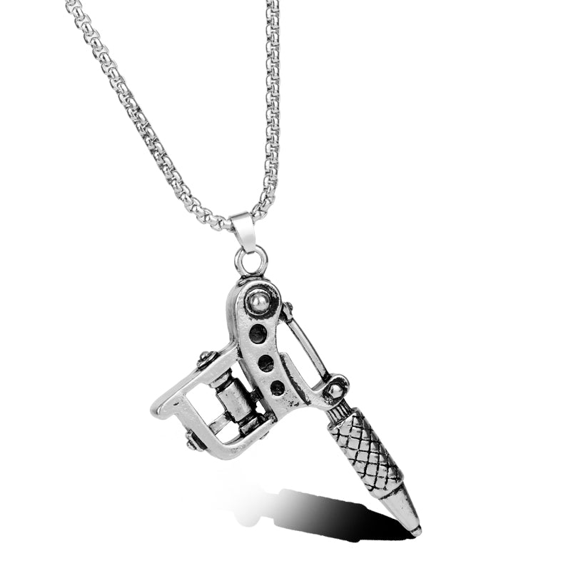 Tattoo Machine Pendant Necklace
