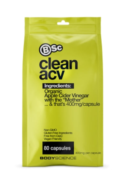 Clean ACV 80 Capsules - Body Science New Zealand