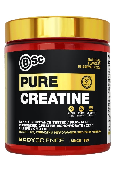Micronized Creatine Monohydrate - 66 serves - Body Science New Zealand