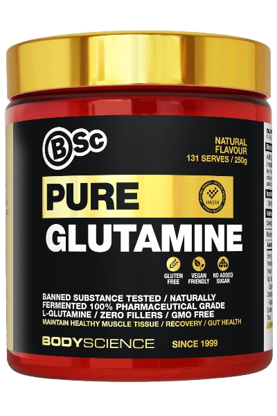 Pure Glutamine 250gm - Body Science New Zealand