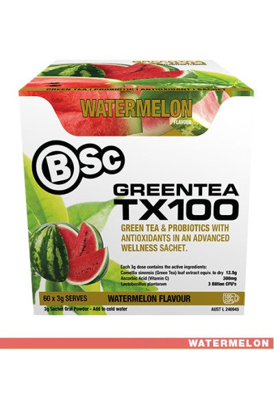 Green Tea TX100 - 60 Serves - Body Science New Zealand