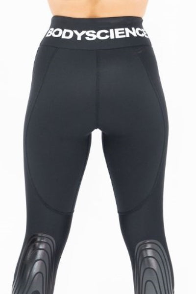 V7, V8 & V9 Womens Black Athlete Tights - Body Science New Zealand