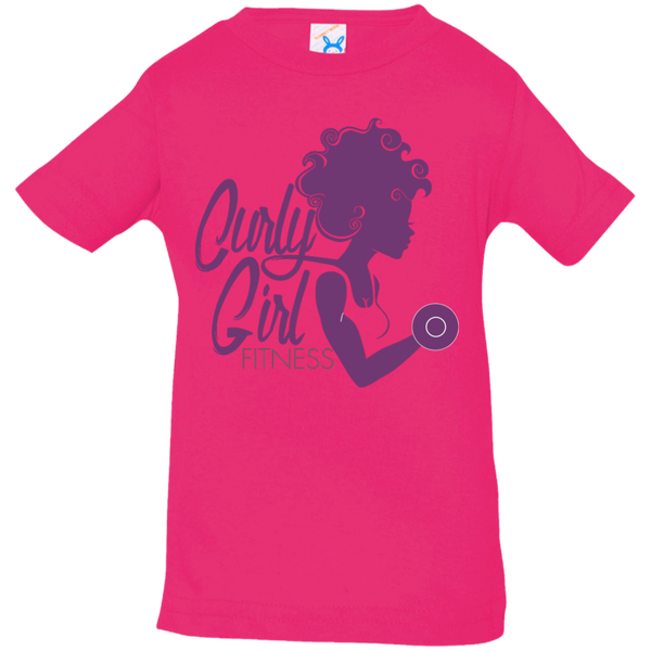 Curly Girl Fitness Logo Infant Jersey Tee