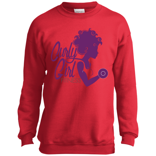 Curly Girl Fitness Youth Crewneck Sweatshirt