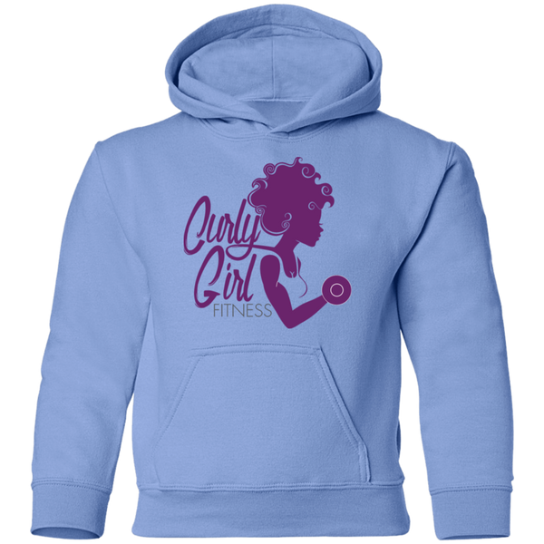 Curly Girl Fitness Youth Pullover Hoodie