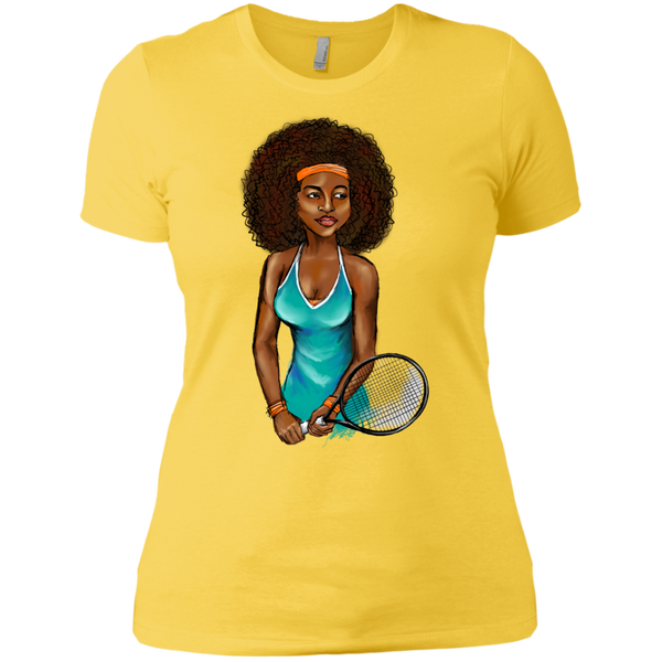 Curly Girl Tennis T-Shirt