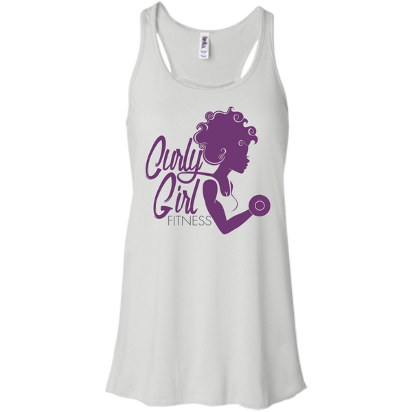 Curly Girl Fitness Logo Racerback Tank