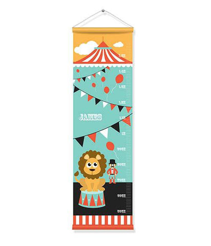 Canvas Growth Chart - Circus