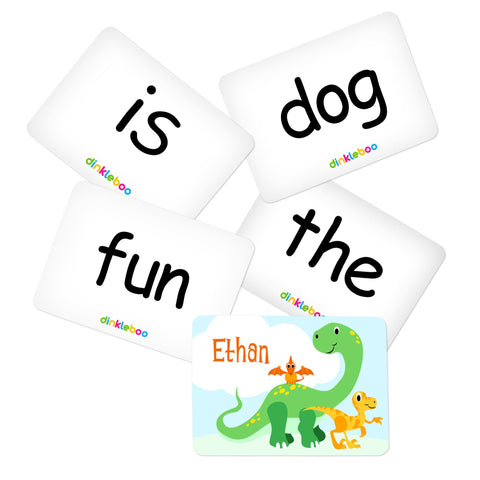 Dino Memory Game Sight Words Pack 1