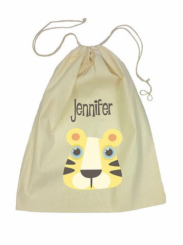 Drawstring Bag - Yellow Tiger