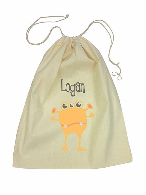 Drawstring Bag - Orange Alien