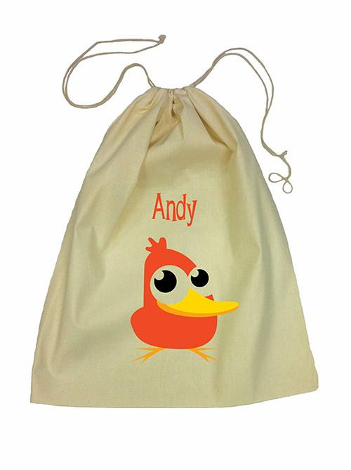 Drawstring Bag - Orange Duck
