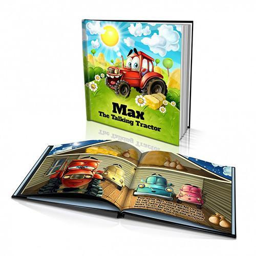 Large Hard Cover Story Book - The Talking Tractor