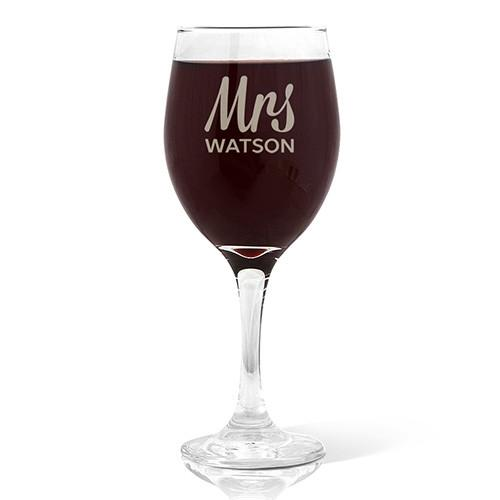 Mrs Design Red Wine 410ml Glass
